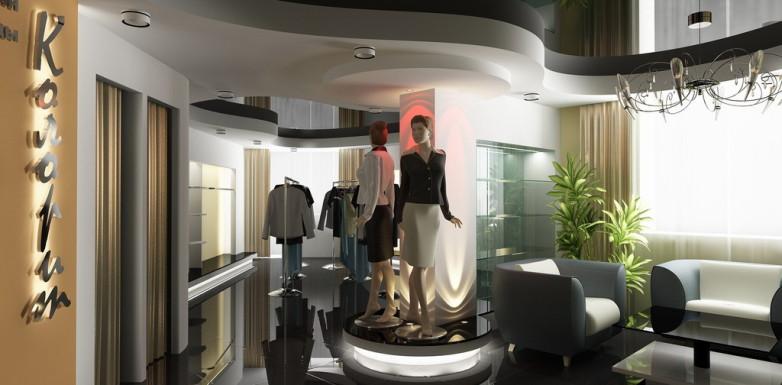 Колорит — интерьер магазина высокой моды с дизайнерской изюминкой от архитектора Алексея Сухова
