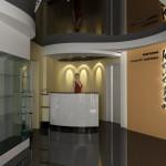 Выставочный зал магазина модной одежды