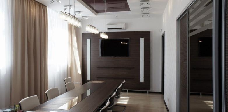 Современный стильный кабинет директора — престижный вариант оформления интерьера офиса для ведения бизнеса