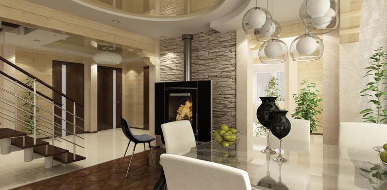 Качественный дизайн интерьера коттеджа в современном стиле с нотками роскоши и капелькой не скрытой аристократичности