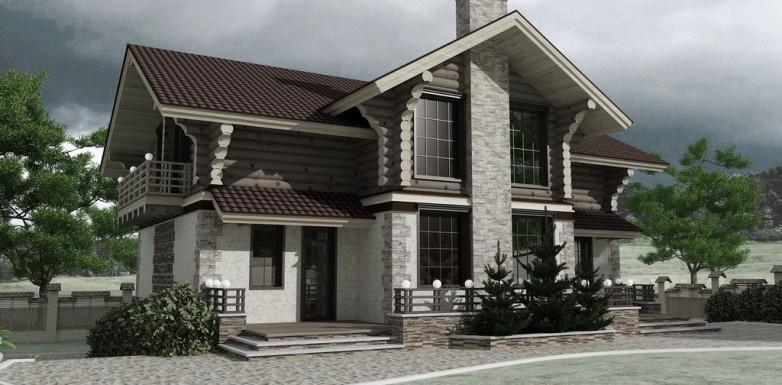Новый проект загородного дома: сдержанная симметрия в сочетании с природной роскошью